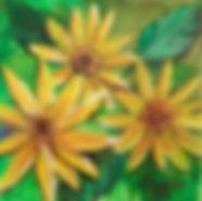 """I am Joy: 6""""x6"""", acrylic on gesso board"""