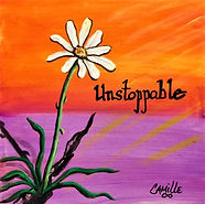 "Unstoppable: 6""x6"", acrylic on gesso board"