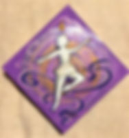 "Raindrop Dance: 6""x6"", acrylic on gesso board"