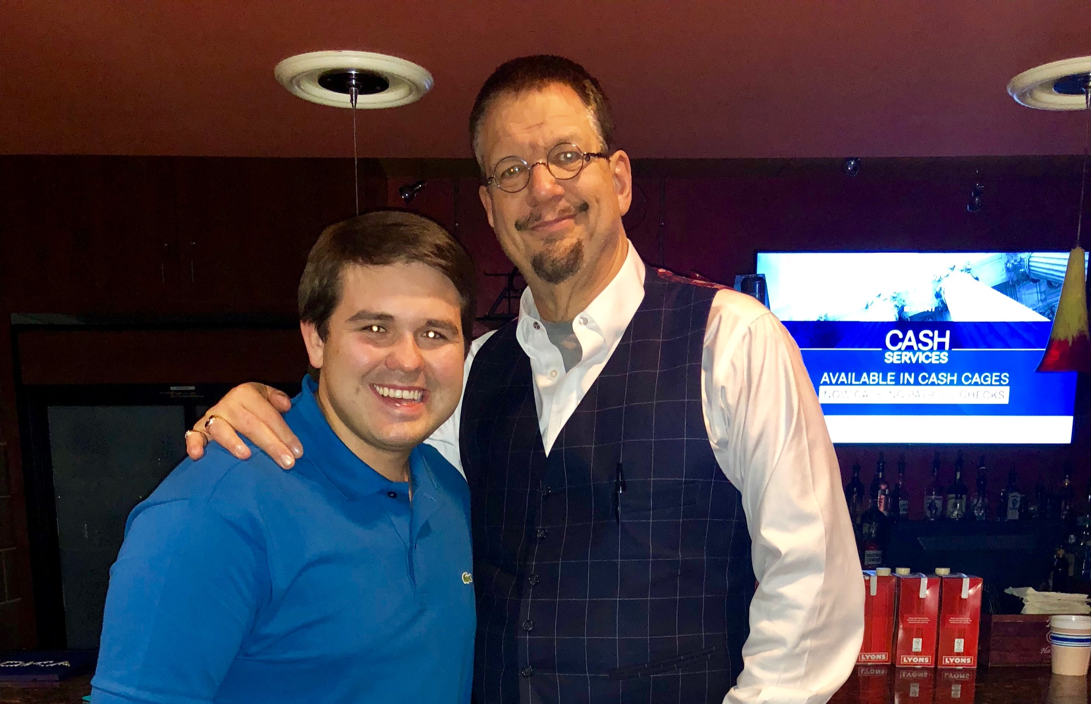 JP with Penn Jillete, of Penn & Teller