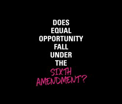 Does Equal Opportunity Fall Under the Sixth Amendment