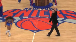 Performing for the NY Knicks