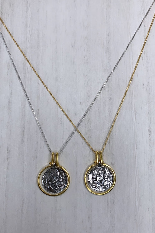 Panagia Large coin necklace