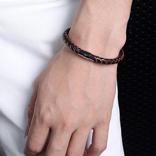 Single leather bracelet