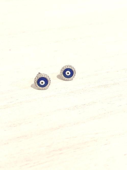 Blink round Evil eye stud earrings