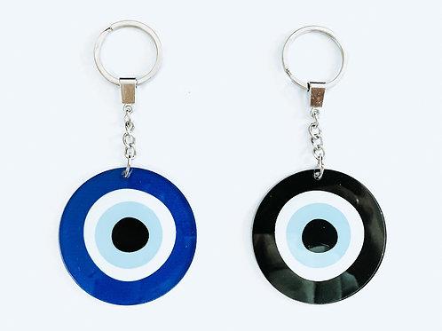 Plexi Evil Eye Keychain