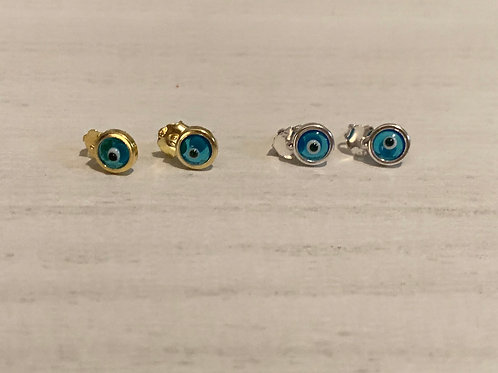 Glass Evil eye stud earrings
