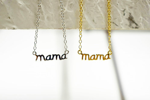 "Tiny ""mama"" necklace"
