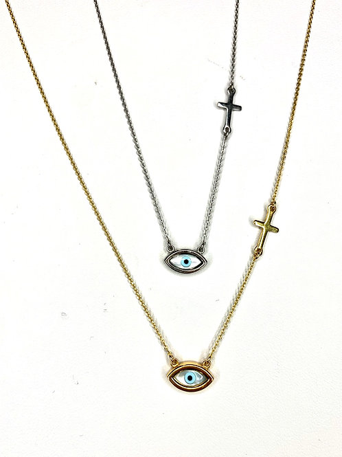 The oval MOP necklaces