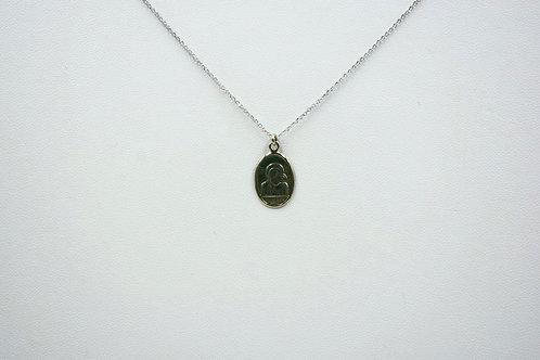 Madonna medallion necklace