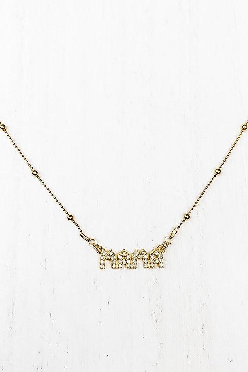 Mama necklace sparkles