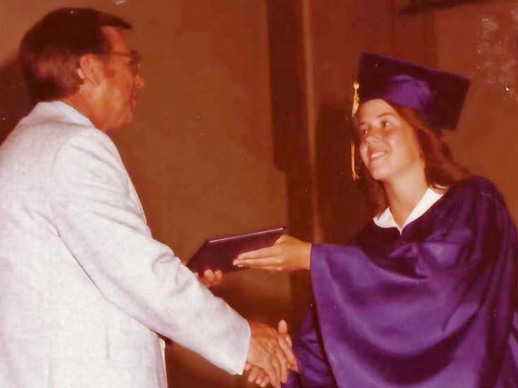 Carol at Graduation