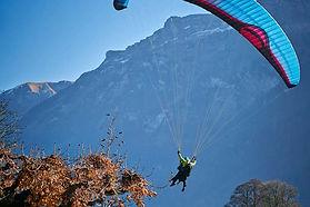 Paragliding, skydiving