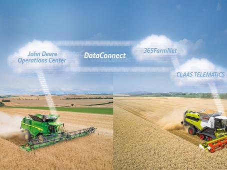 DataConnect teraz online. Wymiana danych między CLAAS, 365FarmNet i John Deere.