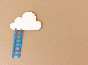 Ladder leading up to cloud - reach your