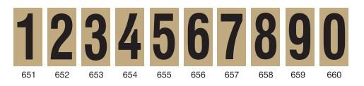 650 νουμερα για αριθμηση οικιων