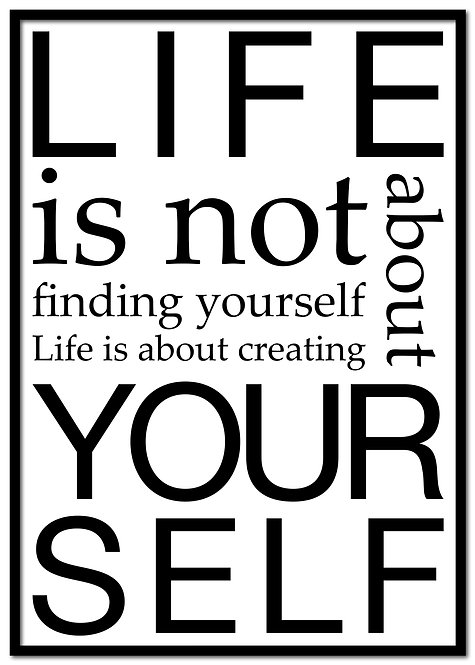 Life is not about...