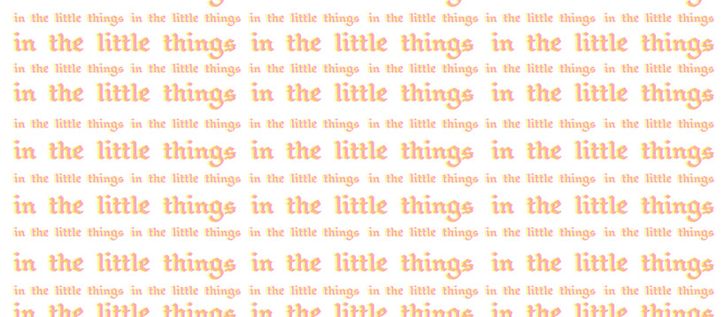 In the Little Things