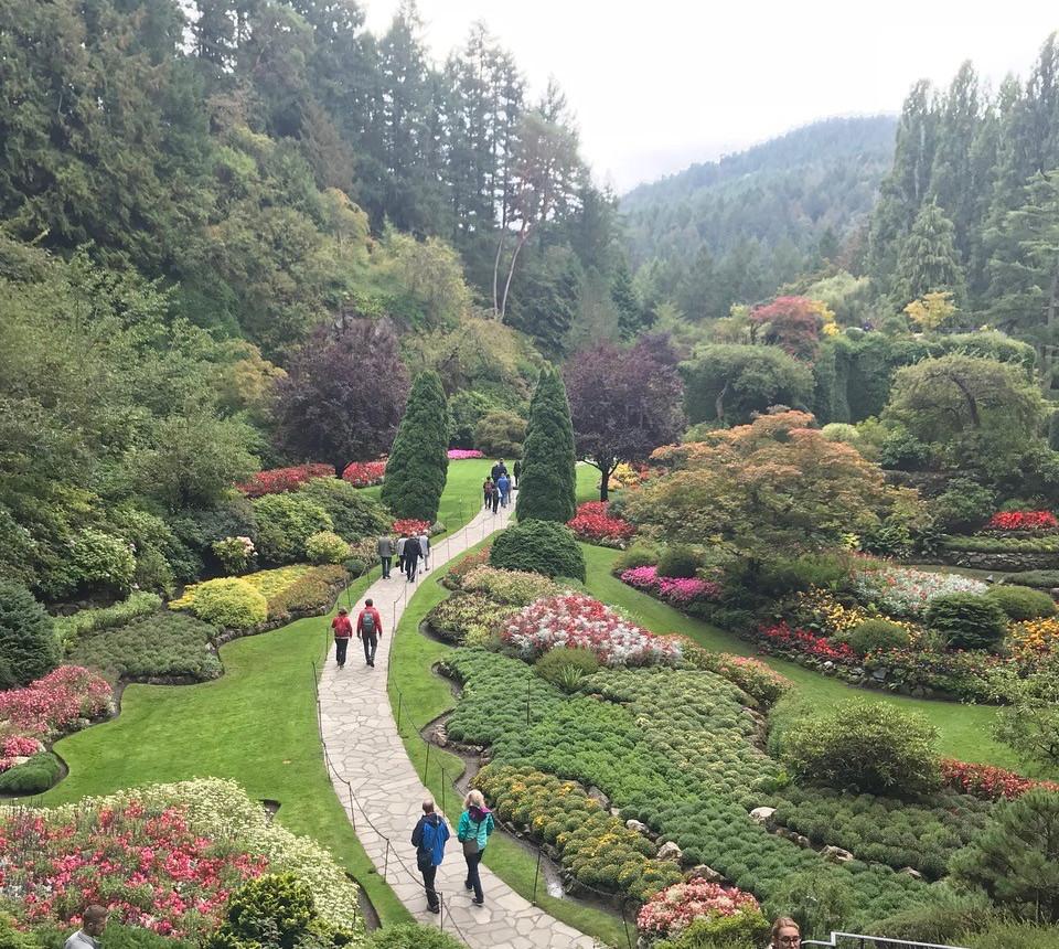 Buchart Gardens in Vancouver. Canada