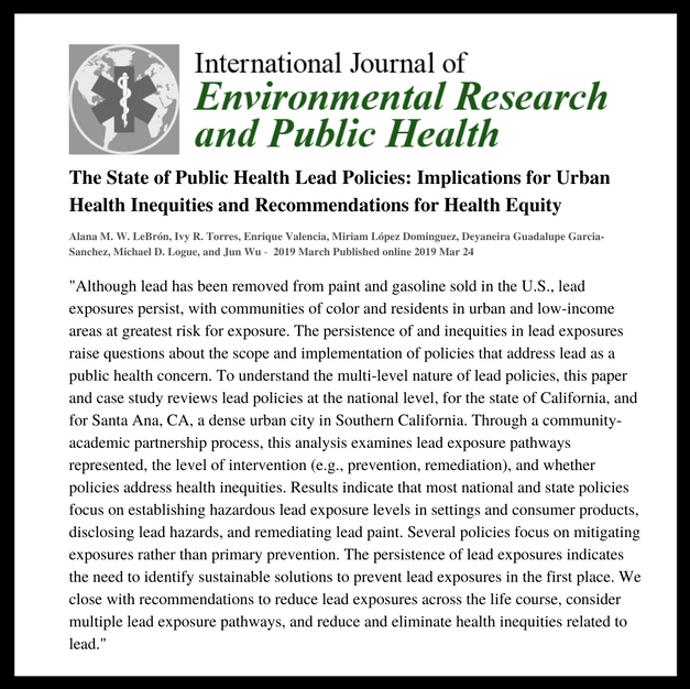 Int. Journal of Env. Research & Public Health