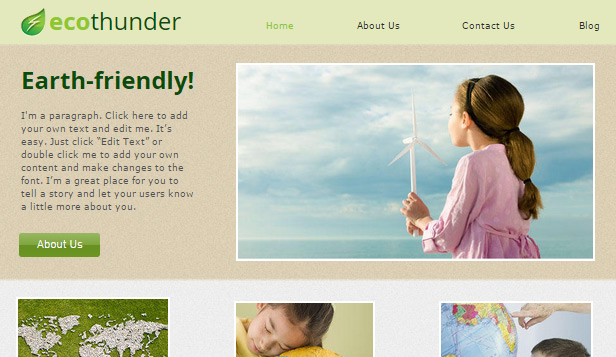Community website templates –  Green Earth