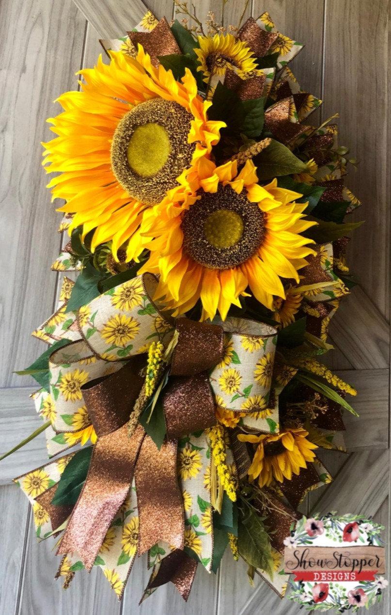 Sunflower Door Swag