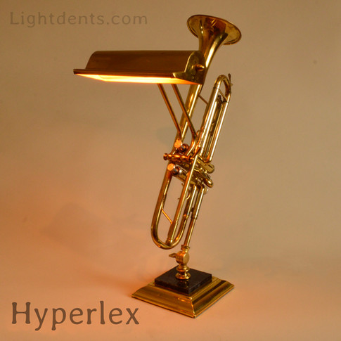 """22"""" Trumpet reading lamp. On/Off in the first piston."""