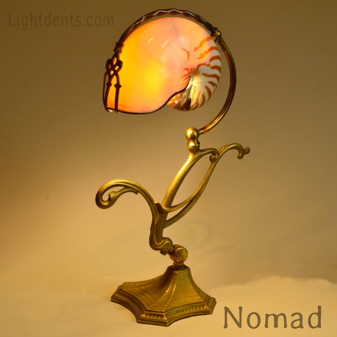 $1200. 18_ Boudoir Lamp. Nautilus shell.