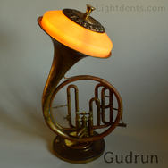 """$500 Marching French Horn. On/Off switch in the second valve. 22"""""""