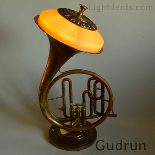 Marching French Horn. On/Off switch in the second valve.