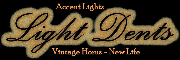 Unique accent lights. Vintage horns reinvented.