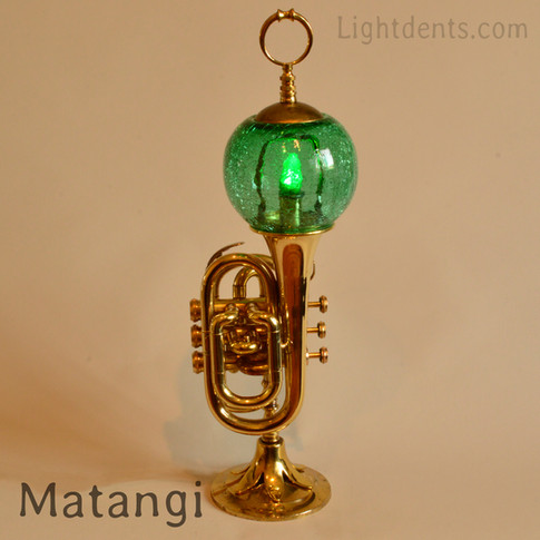 """21"""" Pocket trumpet. On/Off switch in the second valve."""