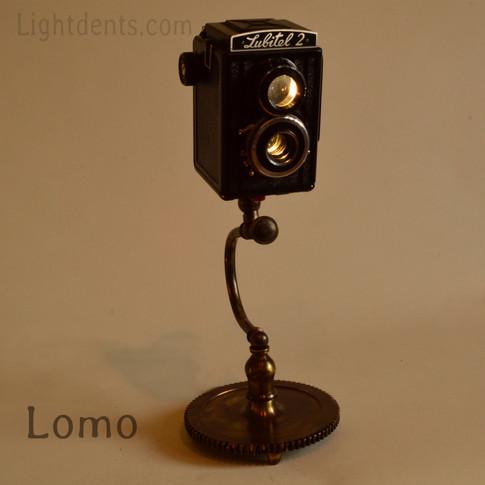 """13"""". Vintage Camera Lamp. Solid brass base."""