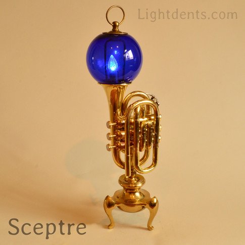 """21"""". Pocket trumpet. On/Off switch in the second valve."""