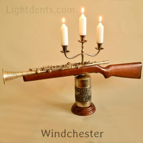"""$350. 32"""" X 18"""".  Clarinet Candelabra"""