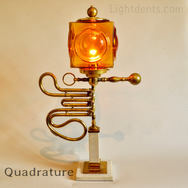 """$400. 25"""". French Horn Parts Lamp."""