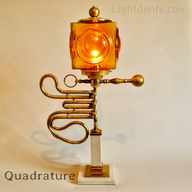 "25"". French Horn Parts Lamp."