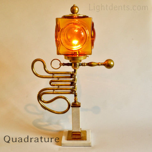 """25"""". French Horn Parts Lamp."""