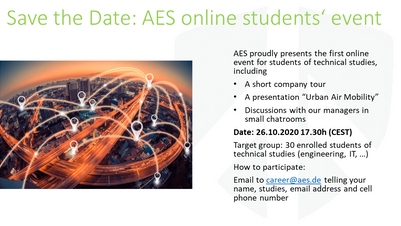 AES Students' Event 2020 - Online Edition