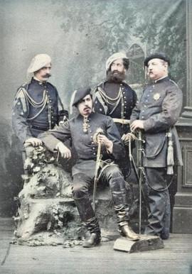 Don Carlos y su Estado Mayor, Paris 1869