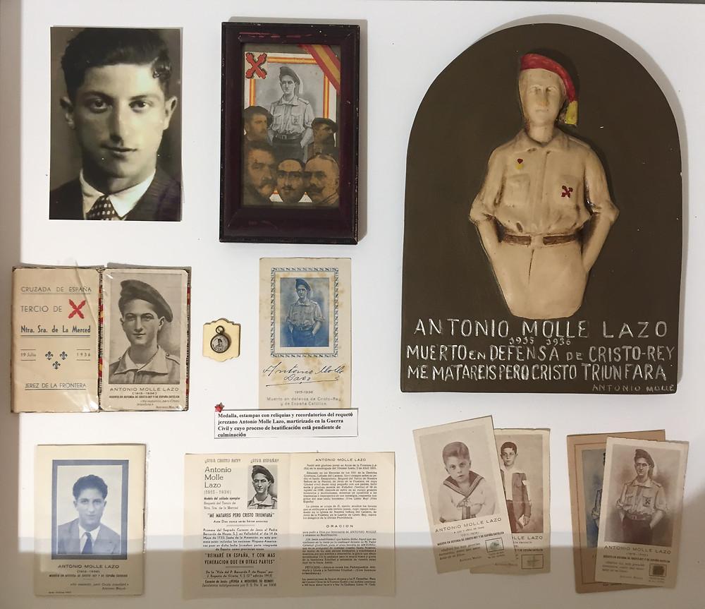 Recuerdos de Antonio Molle Lazo en el Museo Carlista de Madrid