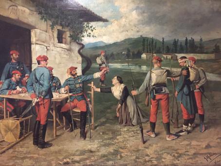 """""""A la puerta del cuartel"""", una valiosa adición a la iconografía carlista de la Tercera Guerra"""