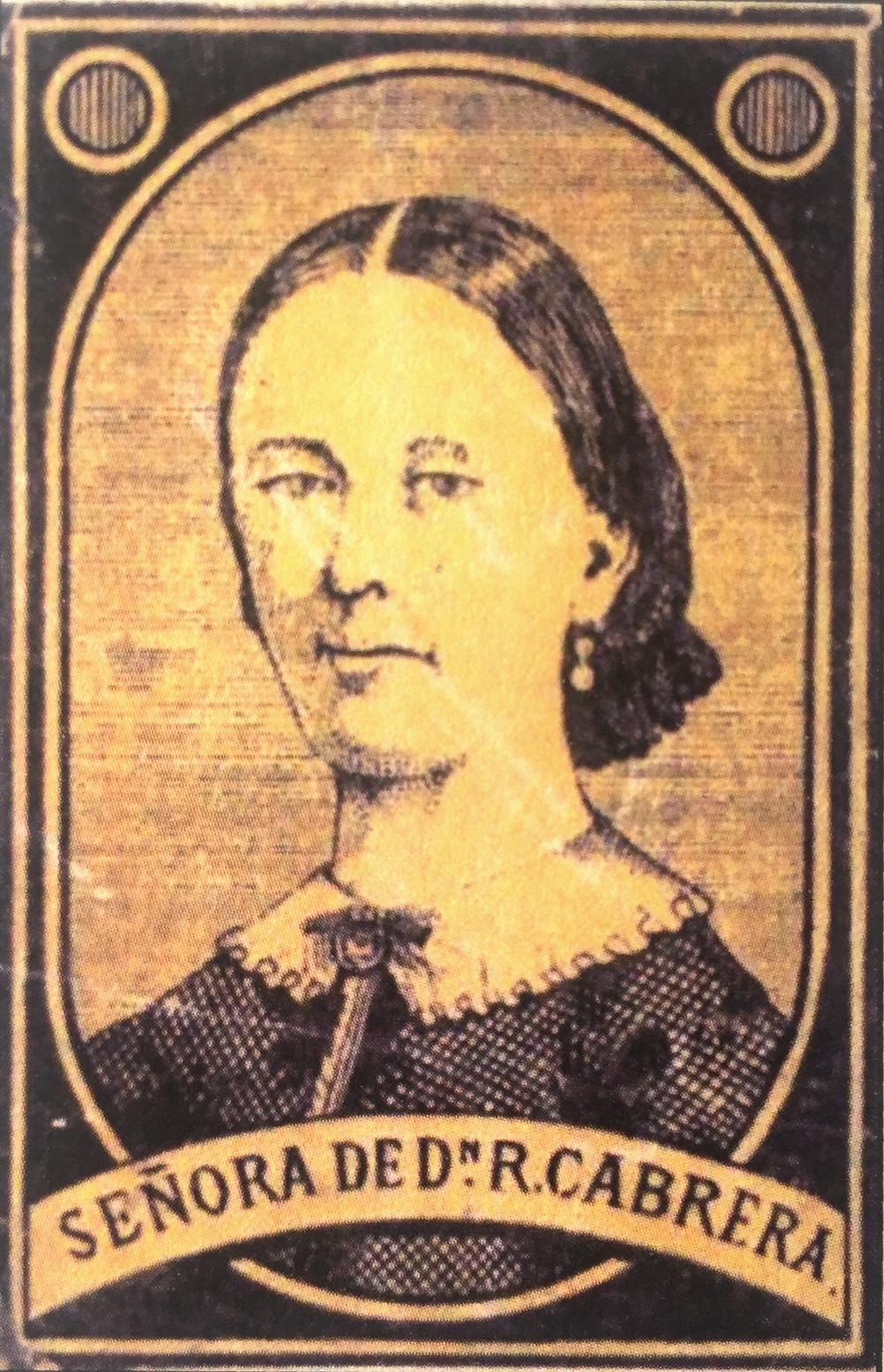 Fototipia de la condesa de Morella en una caja de cerillas