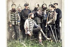 Carlos VII con sus ayudantes, Durango 18