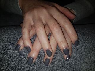 Gel polish on nails