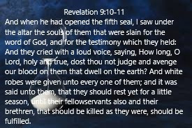 True Word of Yah: Revelation 6:9-11; The 5th Seal Is Open- Martyrs