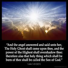 True Word of Yah: Luke 1:35- Proof the Messiah is the Son of the Most High God