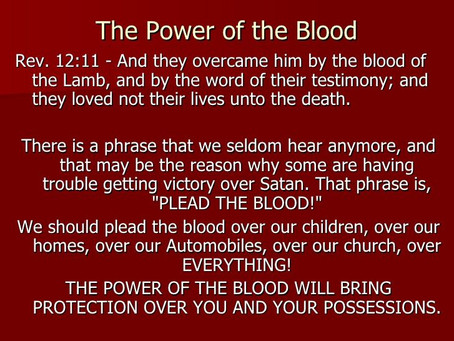 True Word of Yah: Speaking The Word& Blood Rather than Holding Them in your Basin
