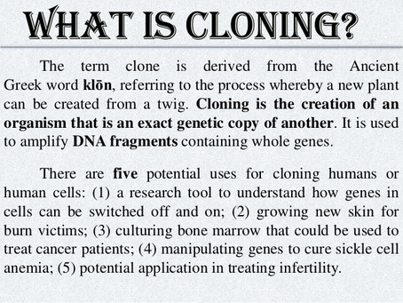 Reality Check: Cloning is Not New Under the Sun. A look at Ancient India