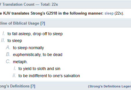 True Word of Yahuah: The Many Meanings of Sleep. A Strong's Hebrew and Greek Study
